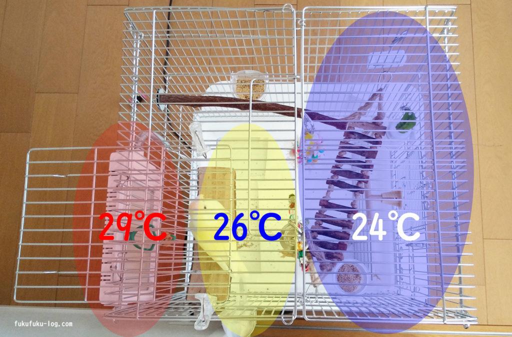ケージ内温度測定